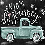 Diamond Painting Kits for Adults, feilin DIY 5D Round Full Drill Art Perfect for Relaxation and Home Wall Decor Blackboard car 30X30cm