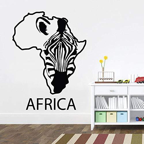 Geiqianjiumai Zebra Lounge Afrika kaart vinyl kunst muursticker verwijderbaar applique Home woonkamer decor