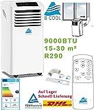 Klimaanlage mobile 9000 BTU Mobile Klimageräte3 in 1 Raumkühlungsventilator Luftentfeuchter Klimageräte 2,6kW EEK A Ventilator Klima R290
