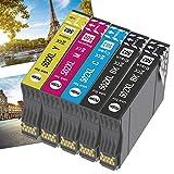 OGOUGUAN 502XL Cartuchos de tinta de repuesto para 502 XL para Workforce WF-2860DWF WF-2865DWF WF2860 WF-2860 WF-2865 WF2865 Expression Home XP-5100 XP-5105 XP5115 (5 unidades)