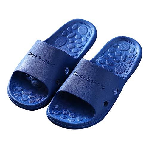 Zapatillas de Estar por Casa, Zapatillas Antideslizantes Para Hombres Y Mujeres, Uso En Interiores, Uso Al Aire Libre, Sandalia De Ducha, Suela De Espuma Suave,(Color:Azul,Size:25.5~26cm/41~42EUR)