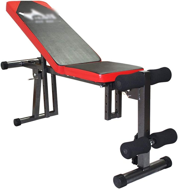 ウェイトトレーニングベンチ 重量ベンチは、多機能折りたたみダンベルベンチ仰臥位ボードベンチ押えいいえフィットネスチェアホームフィットネス機器をインストールする必要があります ベンチプレス