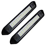 Dream Lighting 12 Volt Auto Waterproof Awning Lights/Cool White RV Exterior LED Lighting for Marine Boat Camper Trailer and Motorhome 9.84 inch Black Shell Pack of 2