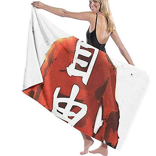 Lfff Absorbente Suave y liviano Gratuito para baño Piscina Yoga Pilates Manta de Picnic Toallas de Microfibra 80cm * 130cm