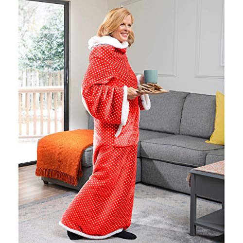 CozyRosie Wearable Blanket with Sleeves for Adults Allows You to Button Up...