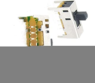 Aexit 5Pcs 3 Networking Products Position On//On//On 2P3T DP3T Vertical Slide Switch 8Pin Switches PCB DIY