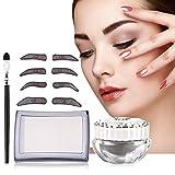 Sello impermeable para cejas eye brow stamp maquillaje a prueba de agua eyebrow stencil stamp tattoo cosmetic tool para perfect eyebrow