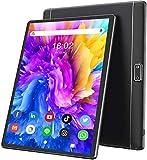 Tablet 3G LTE + WIFI da 10.1'' Pollici HD IPS con Processore Quad-Core,Tablet Android 9.0 da 32GB ROM Espandibili 128GB,Batteria 6000mAh,Dual SIM,Doppia Fotocamera,GPS/Bluetooth/OTG/FM(Nero)