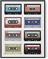 Personalised cassette playlist print // gift for music lovers custom songs