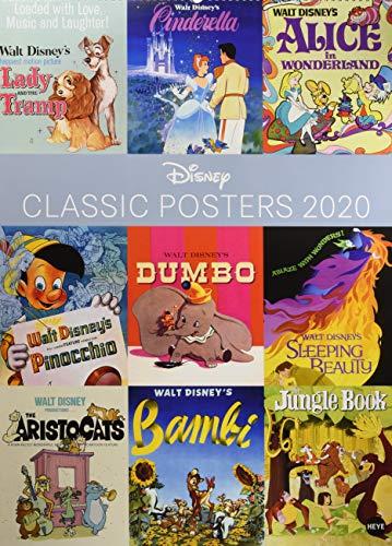 Disney Classic Posters Edition. Wandkalender 2020. Monatskalendarium. Spiralbindung. Format 49 x 68 cm