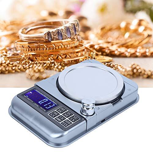 Báscula de joyería, unidad múltiple, alarma cuantitativa, superficie metálica, sensor de alta sensibilidad con almohadillas antideslizantes, báscula portátil para alimentos