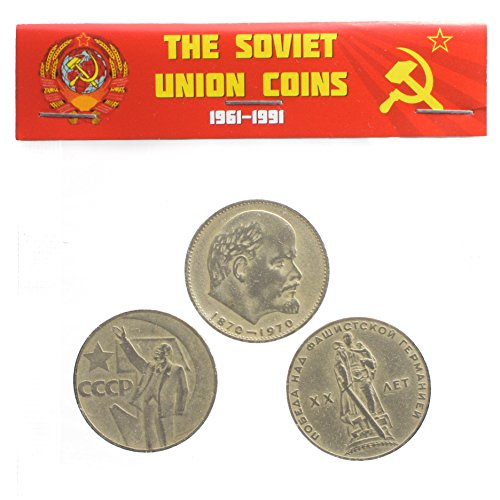 3 X URSS Rusia SOVIÉTICA Conmemorativa Monedas DE 1 RUBLO Conjunto Cabeza DE Lenin, Dinero SOVIÉTICO, Comunismo DE CCCP