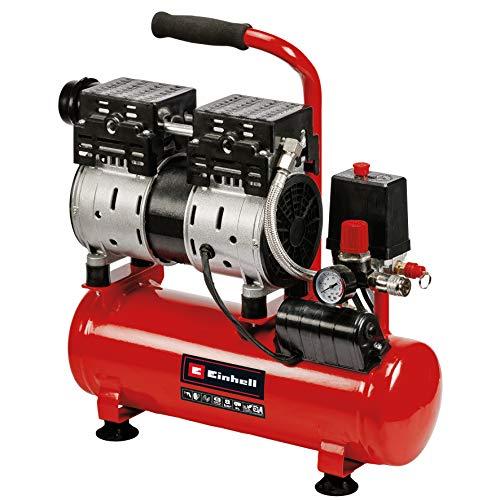 Einhell Compresor TE-AC 6 Silent (compresor silencioso con 550 W, máx. 8 bar, motor exento de aceite y servicio,...