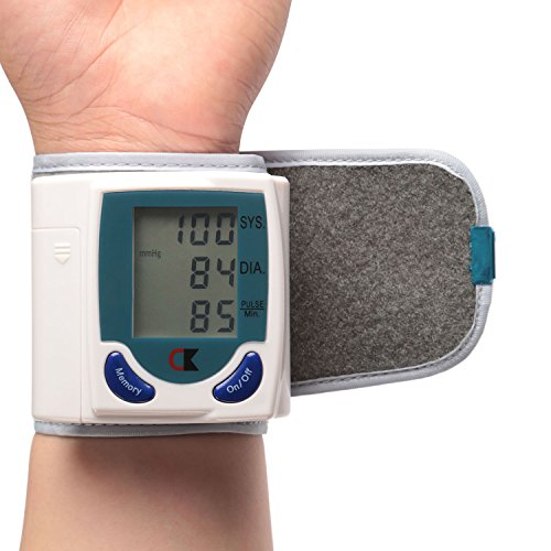 GPCT Wrist Blood Pressure Monitor, Blood Pressure Cuff Wrist, Automatic BP Monitor, BP Cuff Measures Pulse, Diastolic and Systolic High Accurate Meter Best Reading High Normal and Low