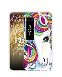 Sunrive Kompatibel mit Meizu PRO 7 Plus Hülle Silikon, Transparent Handyhülle Schutzhülle Etui Hülle (Q Einhorn 2)+Gratis Universal Eingabestift MEHRWEG