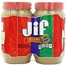 2 Pack Combo JIF Creamy Peanut Butter 48 Oz Each Jar COS11