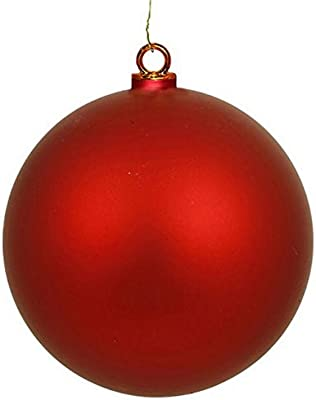 """Queens of Christmas 4"""" Red Wire and UV Coating 100mm Matte Ball Ornament"""