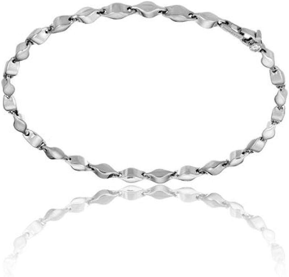 Chimento,bracciale per donna,in oro bianco 18 kt(4,5 gr) e da un diamante 0,03 1B05313ZB5180