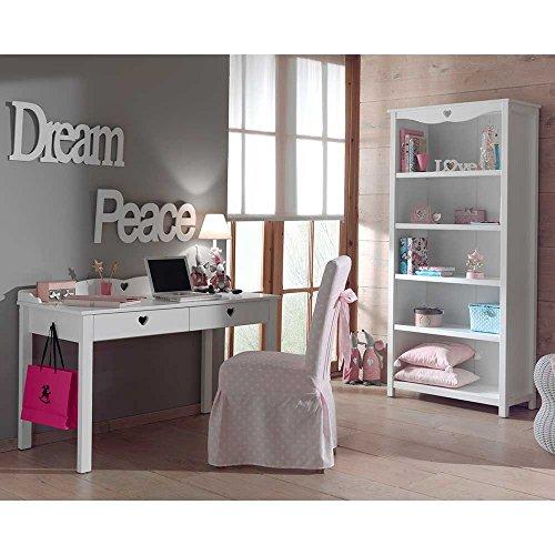 Pharao24 Jugendzimmermöbel in Weiß Herzen