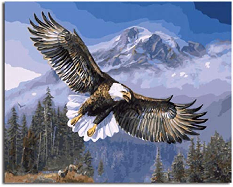 Malen Nach Zahlen Adler Fliegen Bilder Malen Nach Zahlen DIY Digitales Ölgemälde auf Leinwand Wohnkultur Wandkunst GX7134 Gerahmte 40x50 cm B07KQ7ZYFS | Outlet