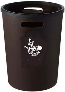 WWWXD Déchets Ronde/Utilitaire Container Plastique/Espace d'économie avec poignée / 10L (Color : Brown)