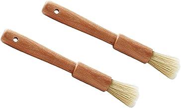 Flameer Pack 2 Wooden Handle Oil Brush Baking Bakeware