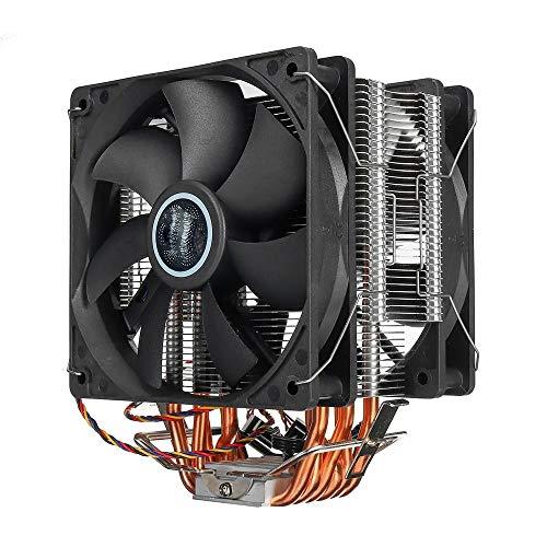 YIJIAHUI Computer Case Fan 3 Pin 2 Ventilator 4 Heatpipes CPU Koeling Ventilator Koeler Koelplaat Compatibel 775 1150 1151 AMD voor Computer PC Cases