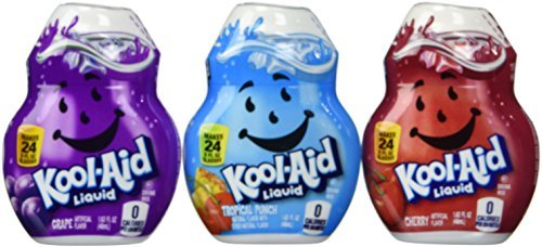 Kool-Aid Liquid Drink Mix Variety 3 Pack (Grape, Cherry and Tropical Punch) by Kool-Aid