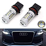 iJDMTOY Xenon White 80W High Power P13W LED Bulbs Compatible With 2008-2012 Audi A4 Q5 Daytime Running Lights (A4 Q5 with Halogen Headlight Only)
