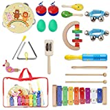 YISSVIC Juguetes de Instrumentos Musicales para Niños 20 Pzas, Juguetes Educativos para la...