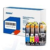 PERSEUS Druckerpatronen Kompatibel für Brother LC227XL LC225XL(Schwarz, Cyan, Magenta, Gelb), Arbeiten mit MFC-J4420DW, J4625DW, J4120DW, BK/C/M/Y Hohe Ausbeute Tintenpatronen