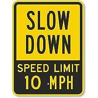 126新しい道路標識速度制限10MPH、頑丈なアルミニウム金属錫標識道路標識8x12インチ