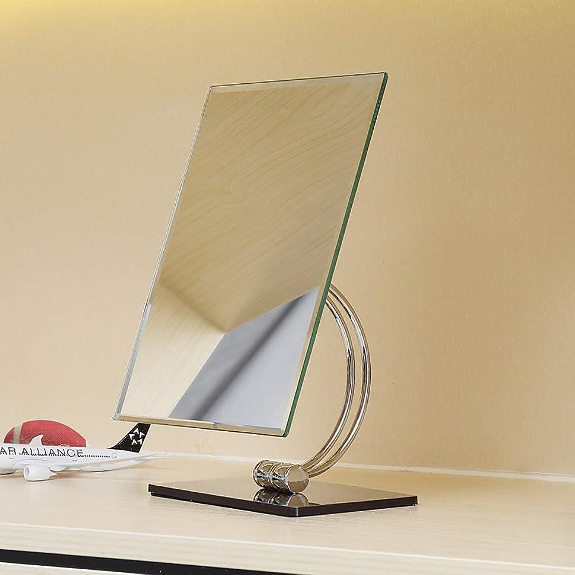 取り囲むラグ上回る流行の スクエア片面HDステンレススチールシルバーミラー+ ABSプラスチックシェル化粧鏡ホームバニティミラーカウンターミラー