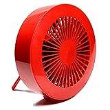 慶洋エンジニアリング(KEIYO) 卓上扇風機 USBミニ扇風機 レッド AN-S015R