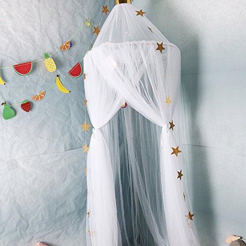 JIESD-Z Mosquitera para cama de bebé, mosquitero para cuna, para colgar, estilo palacio