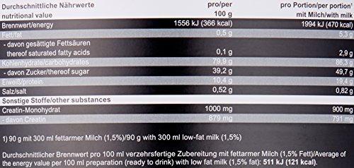 Mammut Weight Gainer Crash 5000, Kohlenhydrate Masseaufbau Kreatin, Vanille , 4.5 kg, 1er Pack - 5