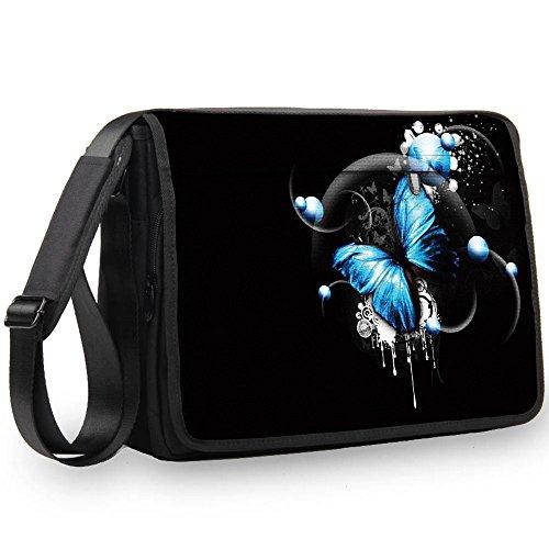 Luxburg® 17,3 Zoll Messenger Bag Umhängetasche Laptoptasche Notebooktasche mit Tragegurt Tasche für Laptop/Notebook Computer