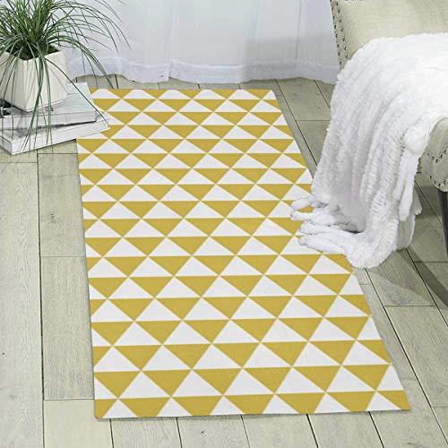 Teppichläufer, 60 x 180 cm, dreieckige Reihen, senffarben