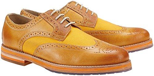 Wellensteyn Schuhe Malhony Vintage poliertes Leder (44, orange)