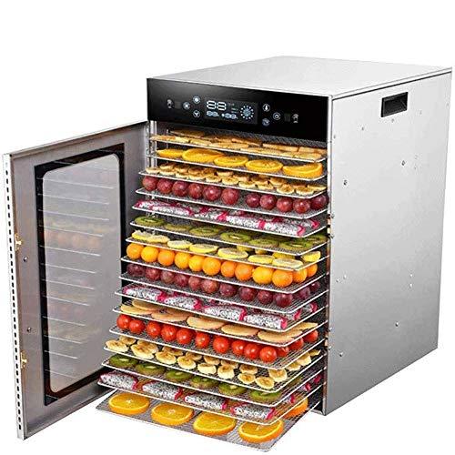 JNWEIYU Premium-Dörrautomat (12 Stockwerke), mit Digital-Timer und Temperaturregelung for Rindfleisch, Jerky, Obst, Hunde-Leckerli, Kräuter