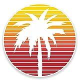 2 x 10cm Palm Tree Vinyl Sticker Decal Laptop Car Bike Tablet Travel Surf #9013