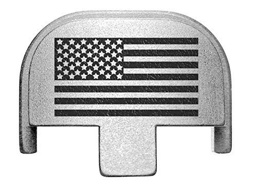 NDZ Performance Rear Slide Cover Plate for Smith & Wesson Self Defense S&W SD9 SD40 VE 9mm .40 Silver Custom Laser Engraved Image: US Flag Inverse Alternate