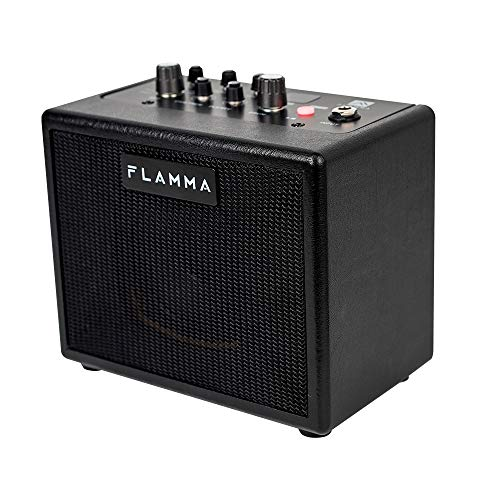 FLAMMA FA05 Guitar Amp Electric Guitar Amplifier Digital Combo Amp Bluetooth Mini Portable with 7 Preamp Models 40 Drum Machine AUX IN Support MP3 Format 5 Watt