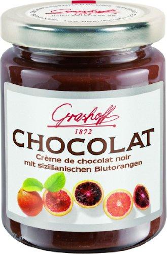 Grashoff Dunkle Schokoladencreme mit sizilianischem Blutorangenöl, 250 g, 3er Pack (3 x 250 g)