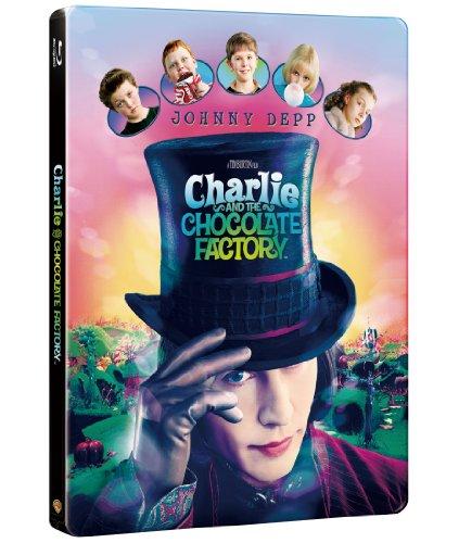 【数量限定生産】チャーリーとチョコレート工場 ブルーレイ版スチールブック仕様 [Blu-ray]