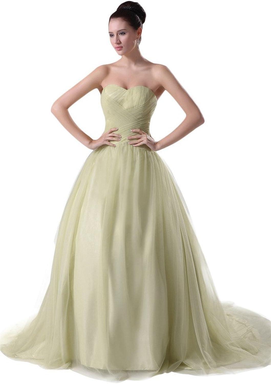 SecretCastle Women's Gorgeous Garden Sweetheart Aline Long Tulle Party Dresses 2015 SCT027