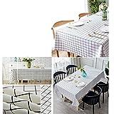 Wachstuch-Tischdecke Abwaschbar Garten-Tischdecke Wachstischdecke PVC Plastik-Tischdecken Wasserabweisend Abwischbar 140x180 cmWeiß - 4