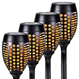 HANKEY Solar Torch Lights, Waterproof Solar Outdoor Lights with Flickering Flame Light, Patio Decorations Outdoor Solar Garden Light Landscape Lighting for Pathway Yard 96 LED Dusk to Dawn Auto On/Off