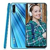 Smartphone Ohne Vertrag,Xgody A90 Handy mit 6.53 Zoll HD(19:9) Wassertropfen Bildschirm,Android 9.0 Mobile Phone,Dual SIM Frei Entriegelt Handy,2GB RAM + 16GB ROM (Blau)
