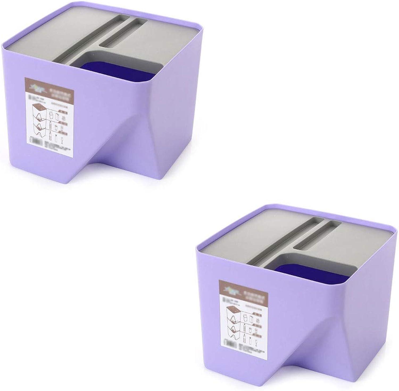 ventas en linea Trash can can can Bote De Basura- Bote de Basura apilable, Caja de Almacenamiento de plástico para Habitaciones de Cocina (Color   B, Tamao   Dos)  los nuevos estilos calientes